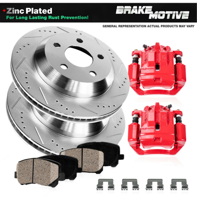 Front+Rear Brake Rotors For 2005 2006 2007 2008 2009 2010 2011 2012 Ford Mustang