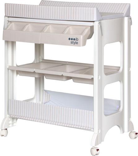 Wickelkommode Wickeltisch rollbar Badewanne Babyzimmer Wickelauflage ib style®