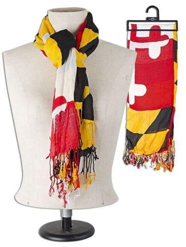 ONE SCARF FOR ALL SEASONS! Maryland Flag Viscose Silk-Like Scarf NEW