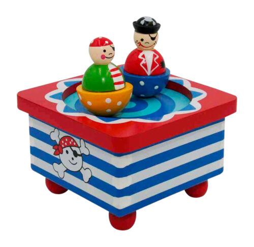 Mechanische Spieluhr B-Ware,mit abnehmbaren tanzenden Figuren Piraten