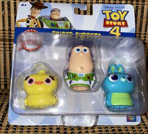 Disney Pixar Toy Story 4 Finger Puppets 3 Pack Ducky Buzz Lightyear Bunny NIP