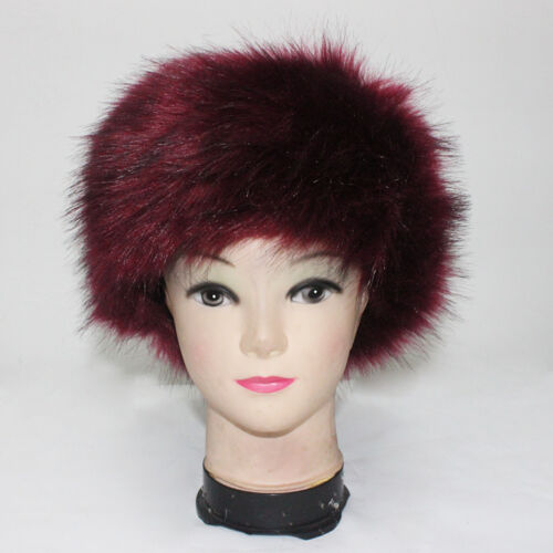 Fluffy Ladies Faux Fur Headband Winter Earwarmer Hat Ski Muffs Fake Fur Russian