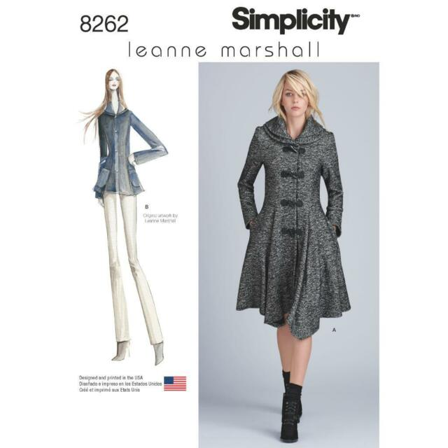 Simplicity Leanne Marshall Coat Or Jacket For Misses Sewing Pattern