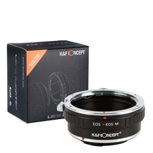 K/&F Concept Adapter with tripod Canon EOS EF lens To Canon EOS M EF-M camera M5