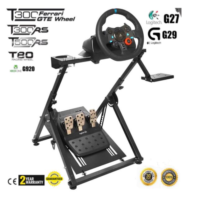 GT ART RACING GTART001 Racing Steering Wheel Simulator Stand for Logitech  G29/G920/Thrustmaster T300 - Black