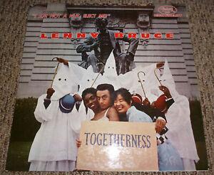 LENNY-BRUCE-Not-A-Nut-Togetherness-LP-ORIGINAL-RED-VINYL-PROMO1960-Mrs-Maisel