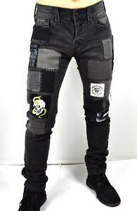 True-Religion-Men-039-s-329-Rocco-Skinny-Patched-amp-Repaired-Jeans-MDAJ60N27K