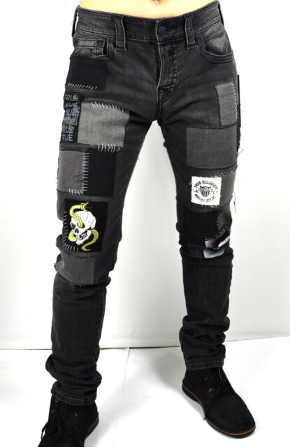 True Religion Men's $329 Rocco Skinny Patched & Repaired Jeans - MDAJ60N27K