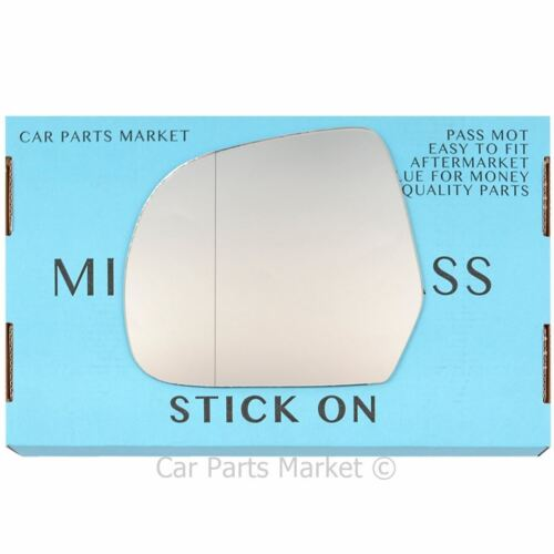 Left passenger side Wide Angle Wing mirror glass for Nissan Leaf 2011-2017