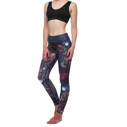 LP Damen Hose Sporthose Jogginghose Fitness Leggins Treggins Bedruckt Skinny Neu