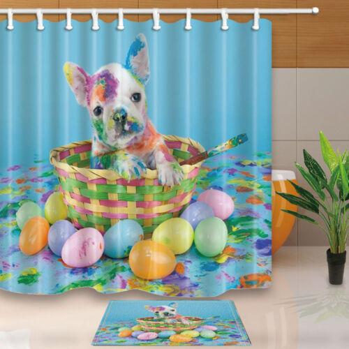 180x180cm Dog Basket Egg Waterproof Fabric Home Decor Bathroom Shower Curtain