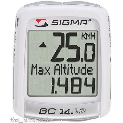 SIGMA BC14.12 Alti Wired Bike Computer Speedometer Altitude Backlit Temperature