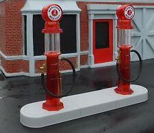 Marathon 1920's Gas Pump Island Kit 4 Pc Set 1/24 Scale G Scl Diorama Accessory