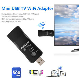 USB-Wireless-WIFI-Sender-Empfaenger-Adapter-300M-fuer-Samsung-LG-Sony-Smart-TV-DE