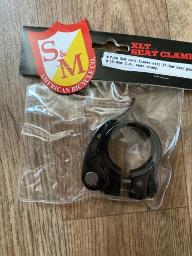 For 27.2mm Seatpost S/&M Xlt Seat Clamp Quick Release Q.R Black 30mm I.D