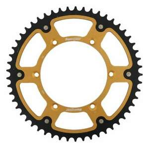 Supersprox Stealth Gold Rear Sprocket with 53 Teeth for Kawasaki KLX650D1 1996