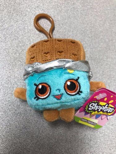 "Brand New 4/"" Shopkins Plush Hanger Keychain Backpack Clip US Seller Cheeky Choco"