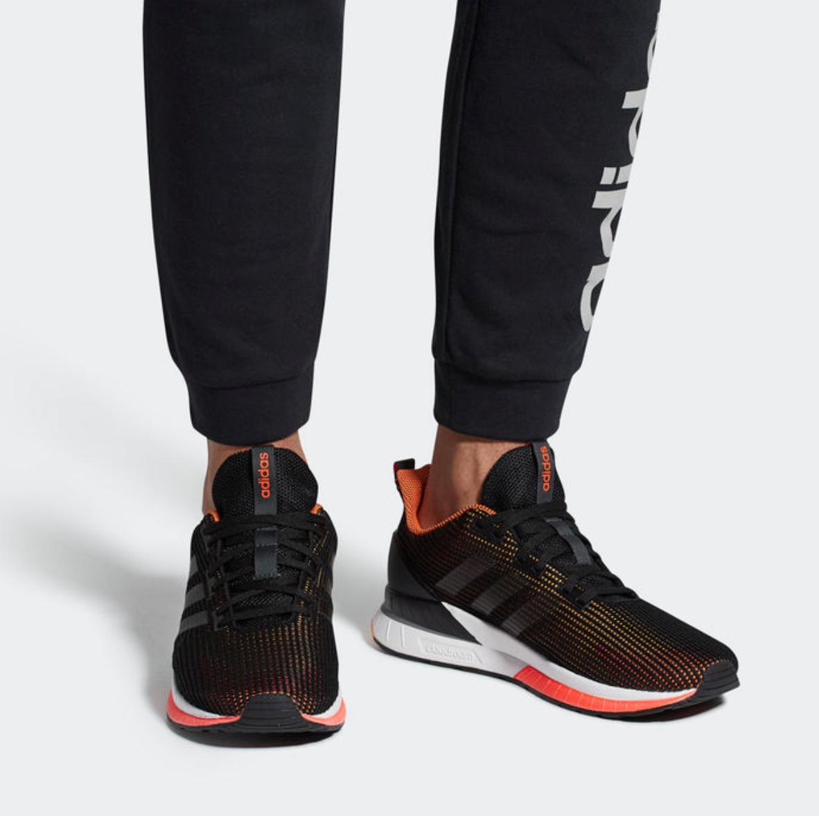 fed6c25d ... Adidas Questar TND TND TND para Hombre UE 40 2 3 Negro y Naranja Nuevo  Zapatos