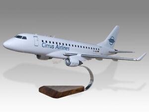 Embraer-175-Cirrus-Airlines-Kiln-Dried-Mahogany-Handmade-Desktop-Airplane-Model