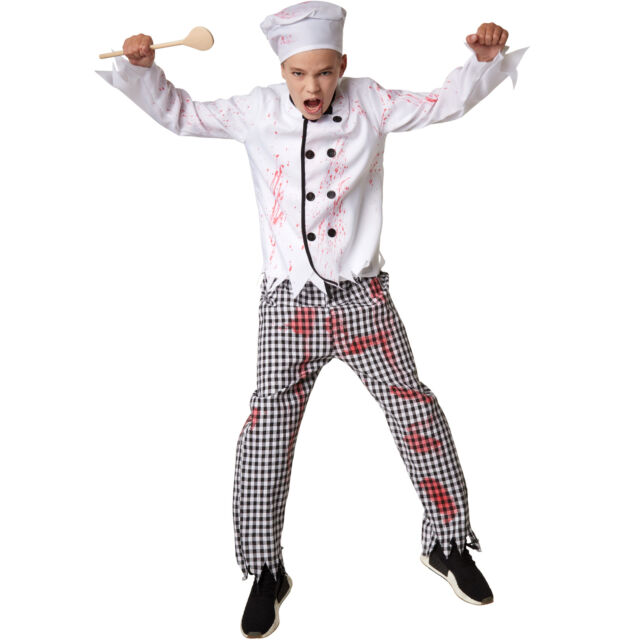 Ragazzi Costume 52313 chef boy chef Zombie Halloween Medio