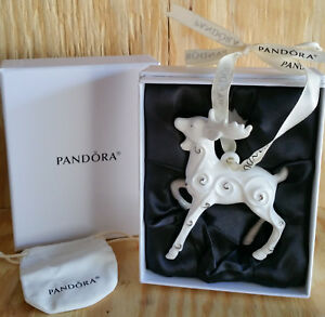 PANDORA Limited Edition JARED 2017 REINDEER Porcelain CHRISTMAS