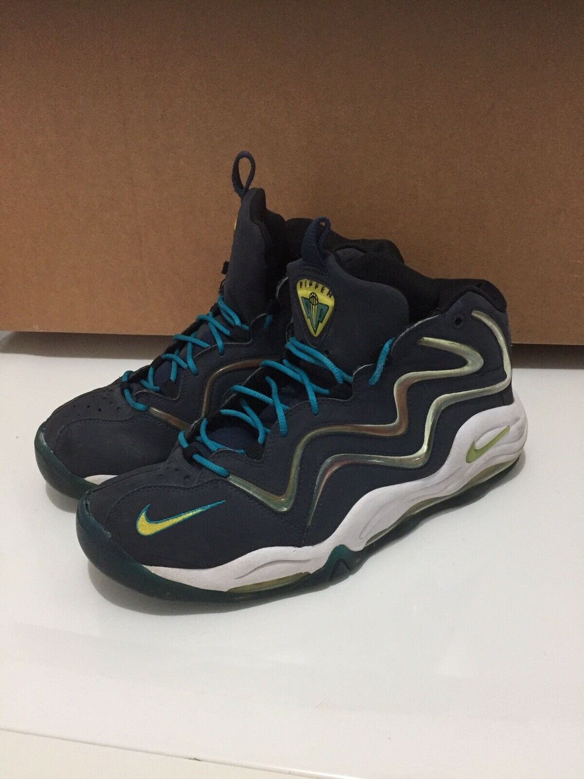 uk availability 04061 85367 Nike Air Pippen Pippen Pippen 1 Navy bluee Men s Size 11 Preowned 547c57