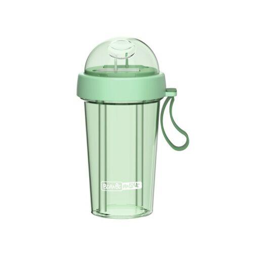 Plastic Straw Split Water Drinking Bottle Hot//Cold Water Drinks Bottle BPA Free