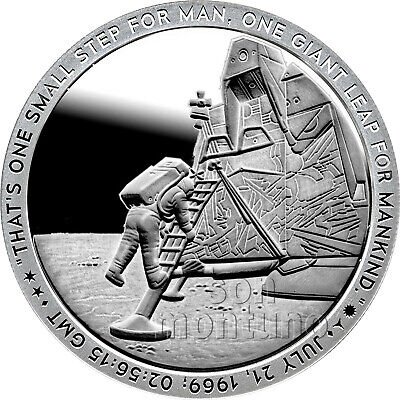 "Apollo 11 ""THE CREW"" Silver Round 1oz .999 Fine Silver Proof Like *5,000 MINTED*"