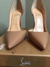 d2977e280d2 Christian Louboutin Iriza Nude Patent Leather 100 PUMPS 36 for sale ...
