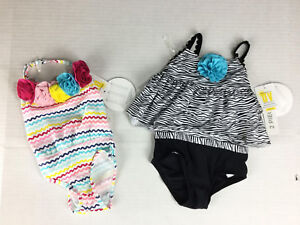 1531344911fdd Koala Kids Swimsuits 3-6 Months NWT Zebra Lot of 2 Stripe UPF 50 ...