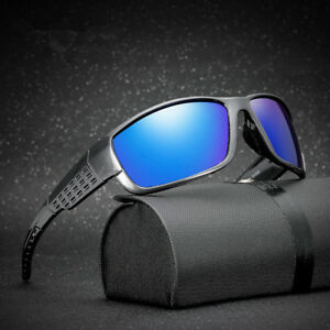 22b6a2fd14ba Image is loading Vintage-Men-Polarized-Sport-Sunglasses-Outdoor-Riding- Eyewear-