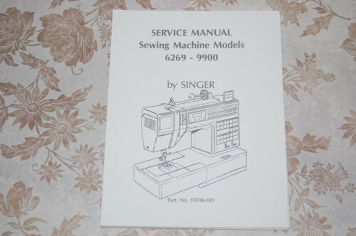 Singer Sewing Machine 6269 Service Manual on CD in PDF Format