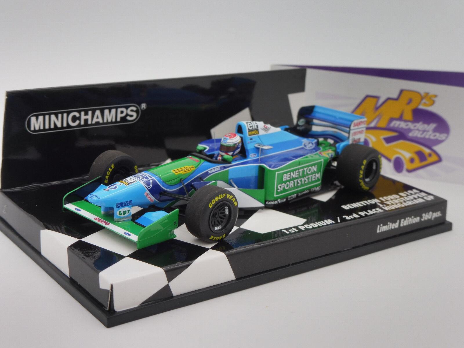 Minichamps 417941006   Benetton Benetton Ford B194 Ungarn GP 1994   J. Verstappen   1 43