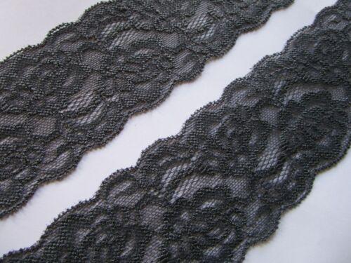 ELEGANTE SPITZE Grau elastisch Borte Lace 6cm breit MODE N 0620