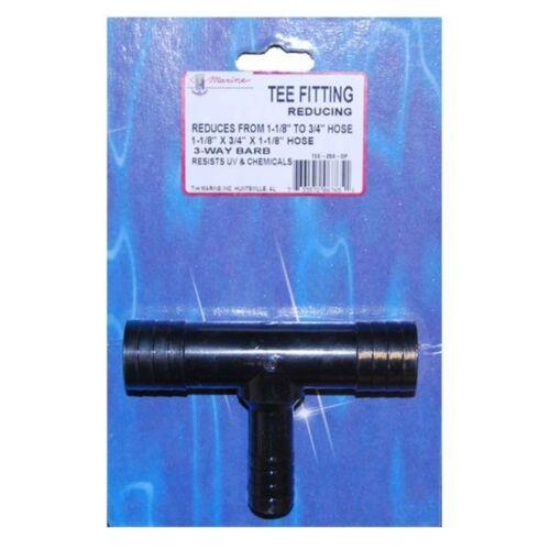 Plumbing Reducing Tee 3//4 in HOSE ID 1 1 1//2 in