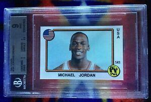 1-1987 PANINI  MICHAEL JORDAN/ORENZO #141 BGS MINT 9