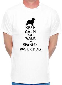 Keep Calm Walk The Spanish Water Dog Lovers Gift Present Unisex Hoodie