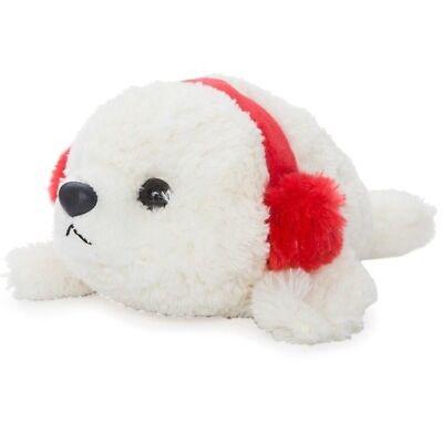Stofftier Seehund Robbe Plüschtier Spielzeug Ohrenschützer Aurora Winter Nordsee