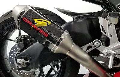 Graves Motorsports Honda 2017 CBR1000RR Cat Back Slip-on Exhaust Carbon