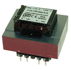 Vigortronix VTX-120-006-615 PCB Open Mains Transformer 6VA 0-15V