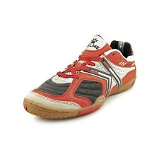 Kelme Star 360 Michelin Mens Leather Indoor Soccer Shoes Black / Red