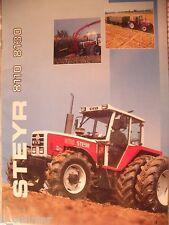 ✪Trecker/Schlepper/Land sales brochures Original Prospekt/HEFT Steyr 8110 + 8130