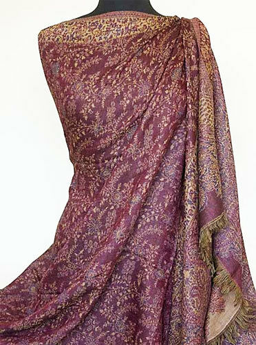 Large Jamavar Wool Shawl Elegance & Excellent Value Pashmina Style Floral