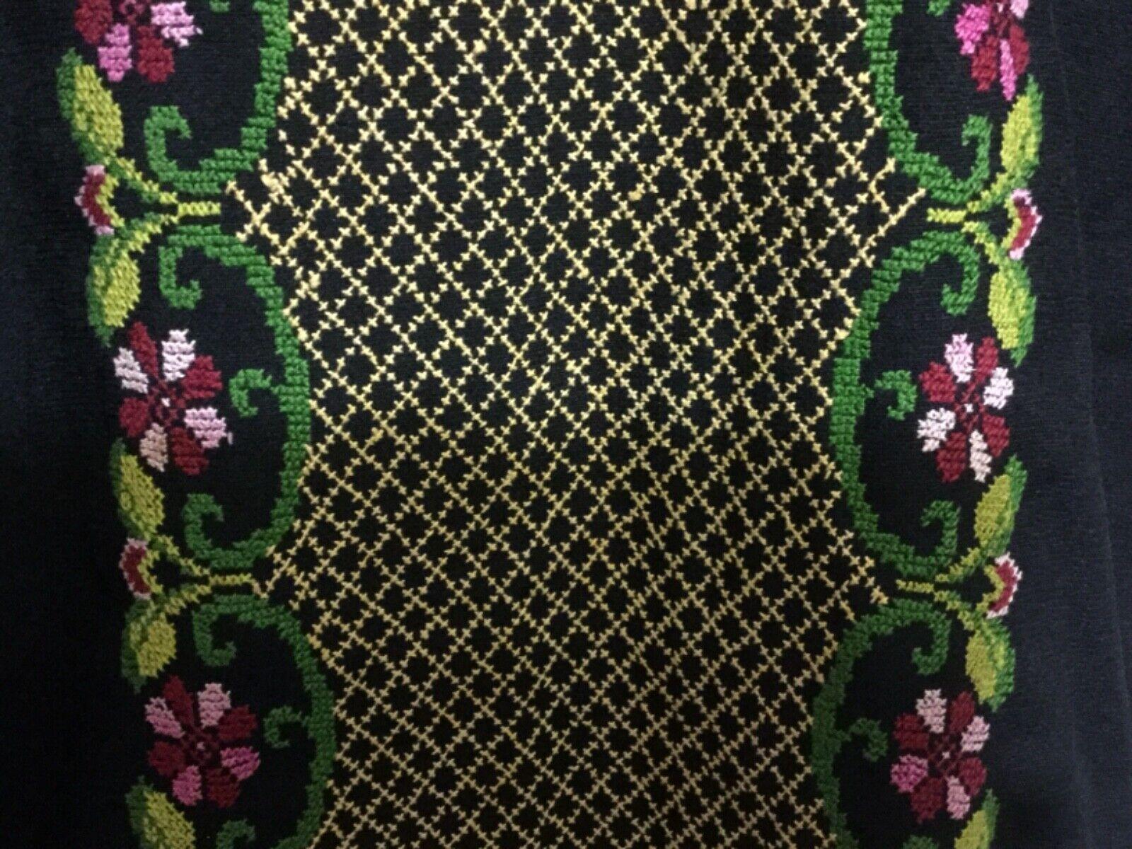 Hand made Embroiderey black Thobe  caftan dress G… - image 2