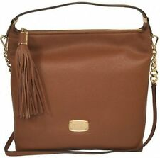 Michael Kors Large Bedford Tassel Hobo Shoulder Bag Purse NWT $278 Luggage Brown