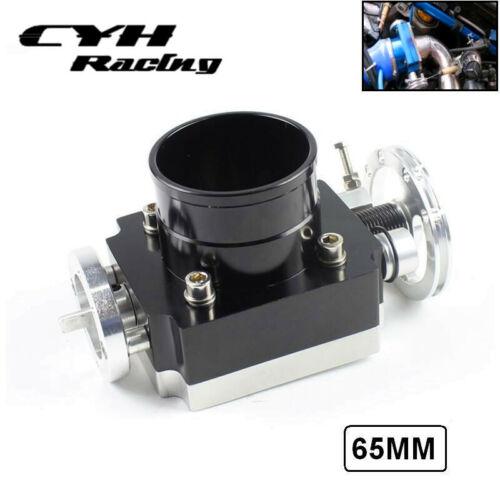 "65MM Universal Aluminum Billet CNC Throttle Body For 2.5/"" Inch Intake Manifold"