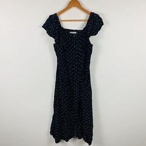 Whistles-Womens-Dress-Size-12-Polka-Dot-Long-Length-Good-Condition-Gorgeous
