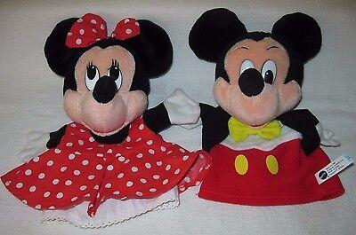 1993 Mattel Disney  MICKEY & MINNIE Plush Hand puppets