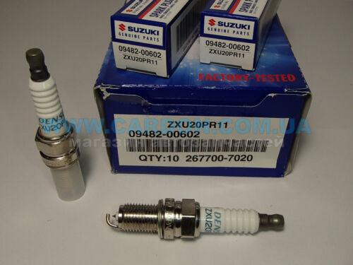 4x NEW Genuine Suzuki Denso SWIFT 11-17 Spark Plug Iridium ZXU20PR11 09482-00602