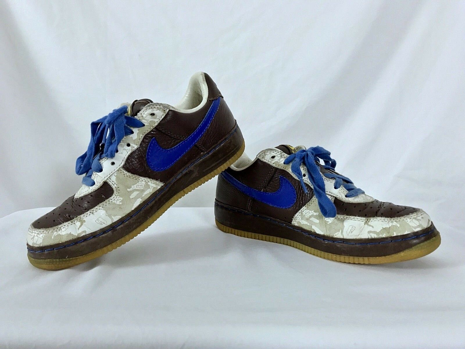 2006 06' Nike Men's Air Force 1 Premium Rare shoes Inside Out Brown White US 10